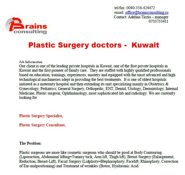 Plastic Surgery doctors - Kuwait