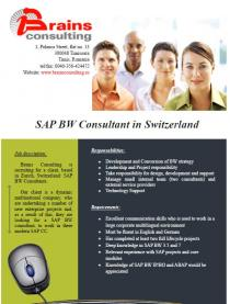 SAP BW Consultant in Switzerland