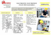 ELECTRICIENI / ELECTRONISTI - TOATE SPECIALIZARILE - GERMANIA