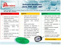 Software developers JAVA, PHP, SAP, .NET