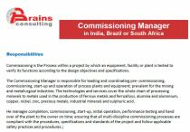 Commissioning Manager, in India, Brazil or South Africa