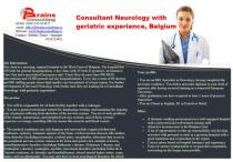 Consultant Neurology with geriatric experience, Belgium